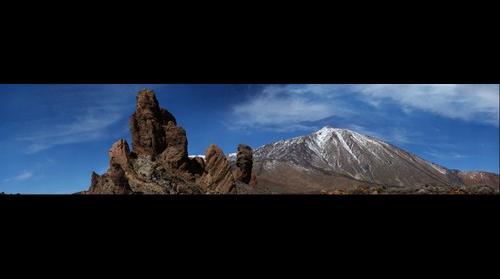 Vista del Teide con nieve - by photowebcanarias ©