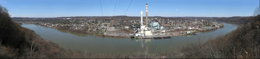 Springdale and the Allegheny River from Barking Slopes