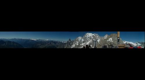 Courmayour, Helbronner, Mont Blanc, Italy, Panorama, Cable car, Alps