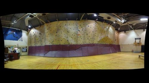 whereRU: College Ave Gym Rock Wall