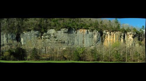 Bluff at Steel Creek, Buffalo National river, in Arkansas