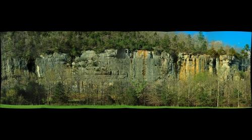 Steel Creek area bluff on Buffalo National river