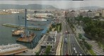 Takamatsu Harbor from 12th floor of ANA Clement Hotel