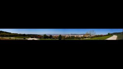 Panoramica de Barcelona desde el Jardin Botanico