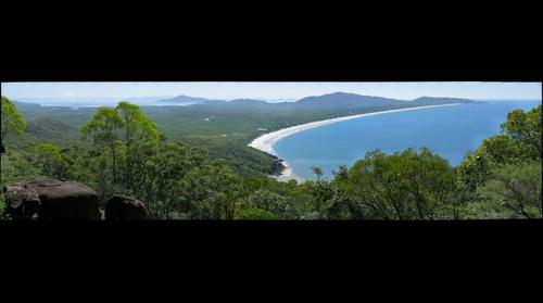 Ramsay Bay from Nina Peak.  Hinchinbrook Island, Queensland, Australia