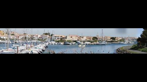 France le Cap d Agde le port vue du pont de l ile des loisirs