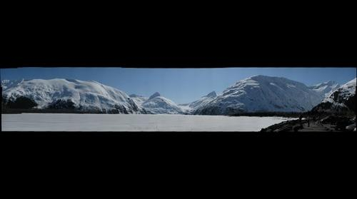 Portage Lake Alaska Crust Skiiing
