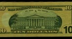 Ten dollar bill (back)