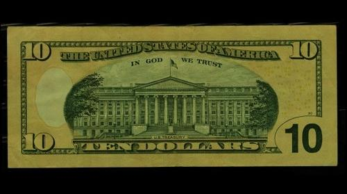 Ten dollar bill (back)