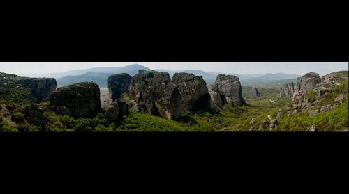 Meteora, Suspended in the air.
