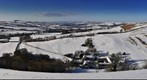 Snowy Panorama over West Dorset