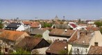 Panorama from the Szeged University Library's roof (TIK roof north)