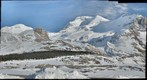 Early spring on Mount Athabasca, Columbia Icefields, Alberta
