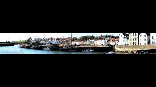 St Monans harbour pano