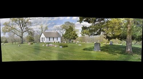 Stony Point Church (1883) & Cemetery (1873), in the Vinland Valley