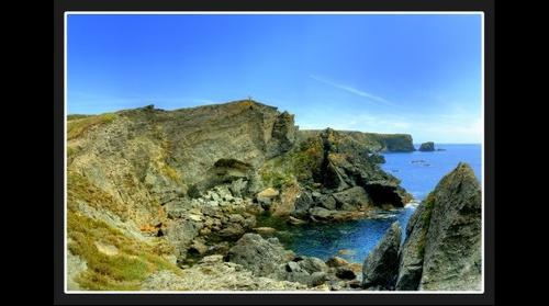 Cliff on Belle-Ile Island