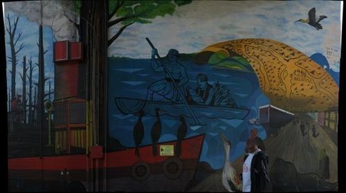 Mural Puente Valdivia