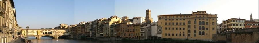 Arno River panorama, Florence, Italy