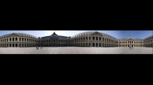Musee de l'Armee Inner Courtyard, Paris France