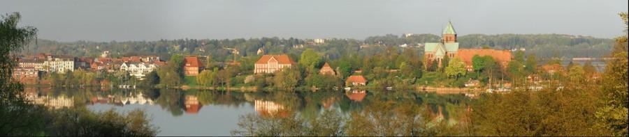 Ratzeburg: Frühlingspanorama von der Schönen Aussicht