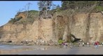 Oregon beach cliffs near Devil&#39;s punchbowl