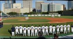 U.S. Marine Corps Color Guard, Two Baseball Teams and Three Umpires - Rendering Honors
