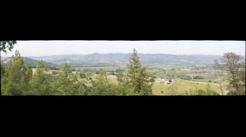 Napa, Ca from hill