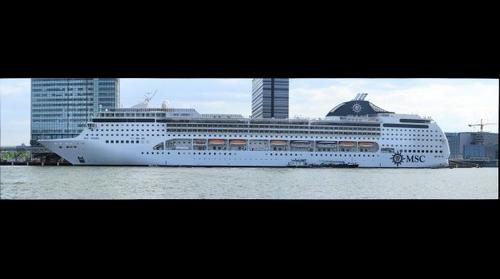 MSC OPERA CRUISESHIP IN AMSTERDAM