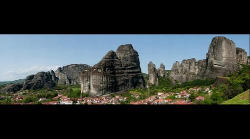Meteora and the village of Kastraki