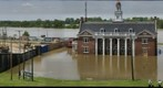"Vicksburg, MS Depot during the ""Great Flood of 2011"""