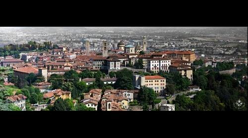 Bergamo alta (medieval citadel of Bergamo - Italy )