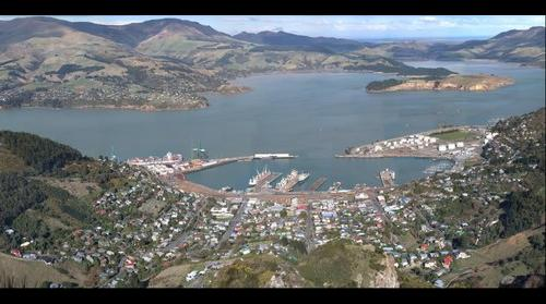 Lyttleton Harbor, Christchurch,  New Zealand.