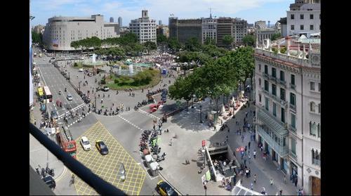 Concentración en la plaza Catalunya de Barcelona