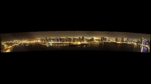 Sharjah Khalid Lagoon by night