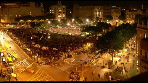 Concentracion en plaza Catalunya
