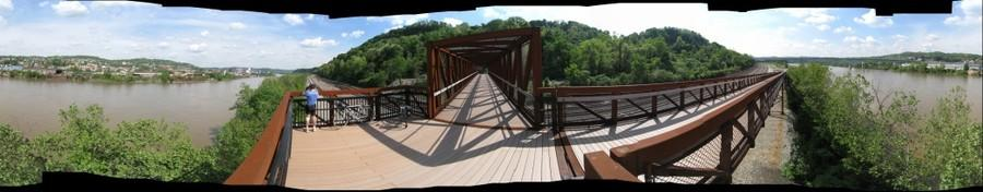 360 Degrees from Whitaker Platform, Great Allegheny Passage