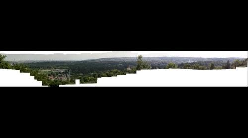 Prague- view from Troja (botanic garden of prague)