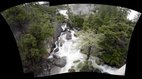 Yosemite bridge falls 56 image 7x8 Panorama