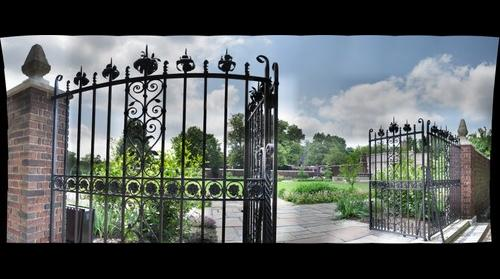 Gated courtyard at Mellon Park