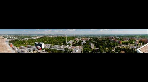 The view from the roof of The Faculty Hospital Brno-Bohunice (Brno, Czech Republic) east direction