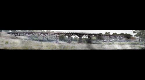 Severn River rail bridge south of Dundee Rail