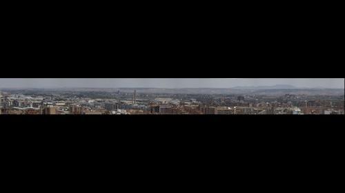 Margen Izquierda Zaragoza desde la torre del Pilar