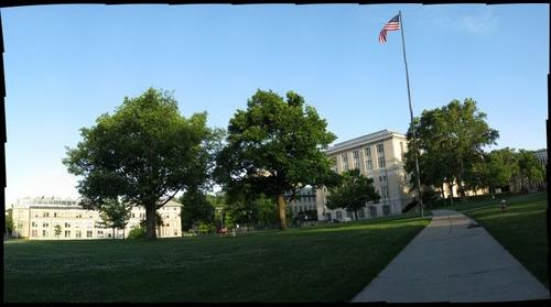 CMU at dusk