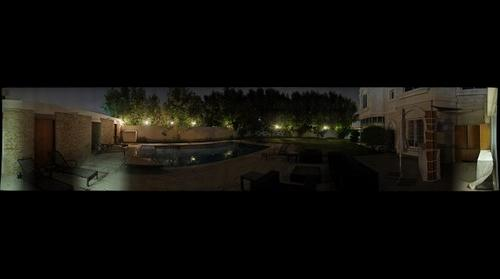 1st gigapan, garden at night