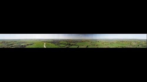 Glastonbury Tor panorama