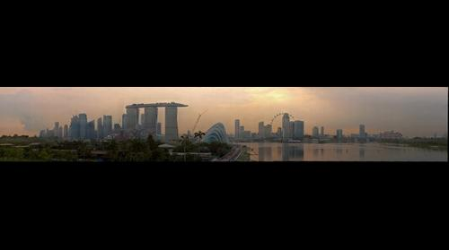 View From Marina Barrage