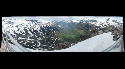 Dalsnibba Ausblick auf den Geiranger Fjord, der zweite Versuch