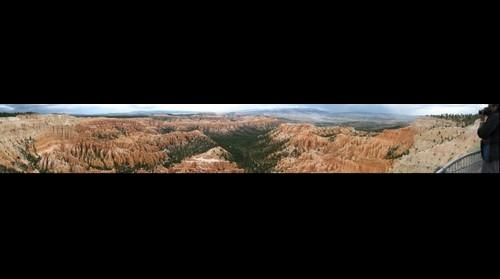 Bryce canyon top view