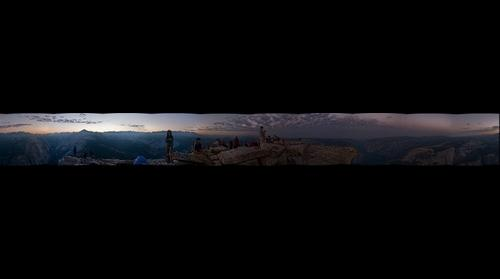 360 degrees on top of Half Dome