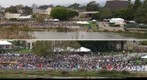 110611 University of California Santa Barbara commencement ceremony views from Lagoon